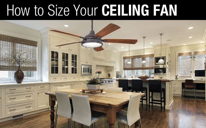 How to size a ceiling fan