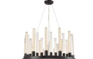 glass skyline chandelier