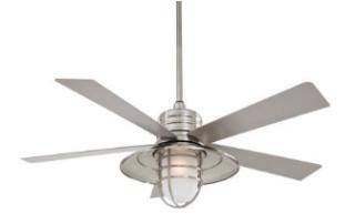 brushed nickel nautical outdoor ceiling fan