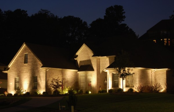 Awesome View Larger Image Home Exterior With Lights At Night