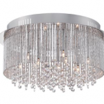 quoizel nine light flush mount